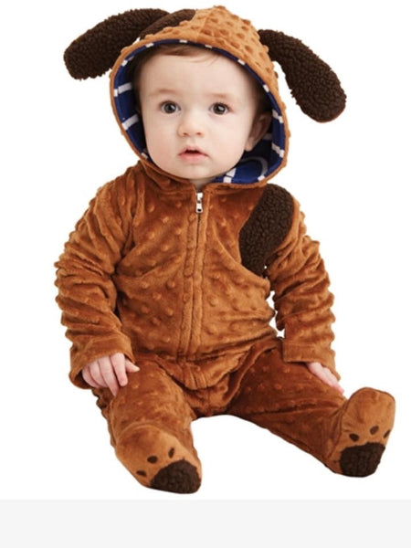 Mudpie Puppy Hooded One Piece
