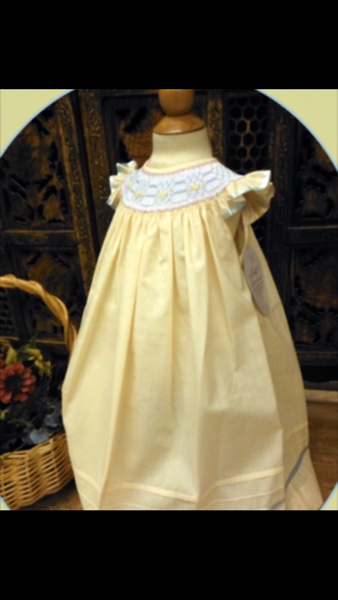 Will'beth Yellow Smocked Dress