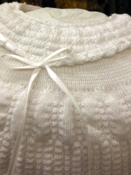 Will'beth White Knit Preemie Outfit