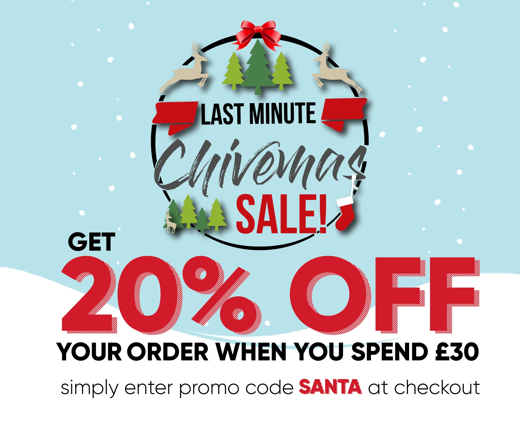 Chive UK - Christmas Sale Event