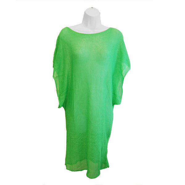 Knit Bathing Suit Cover Up Dress (Green) - Retail  $48.00