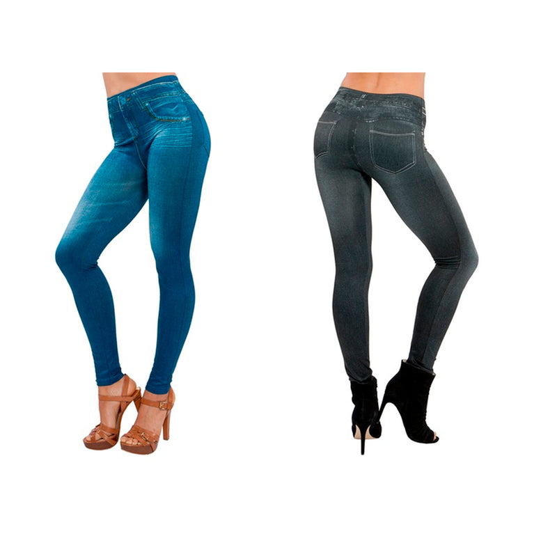 Genie Slim Jeggings BB 2X 2X - Mail Order 2 Pack