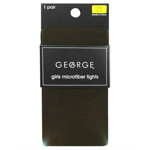 George Girls MicroFiber Tights - Brown - Size 4-6