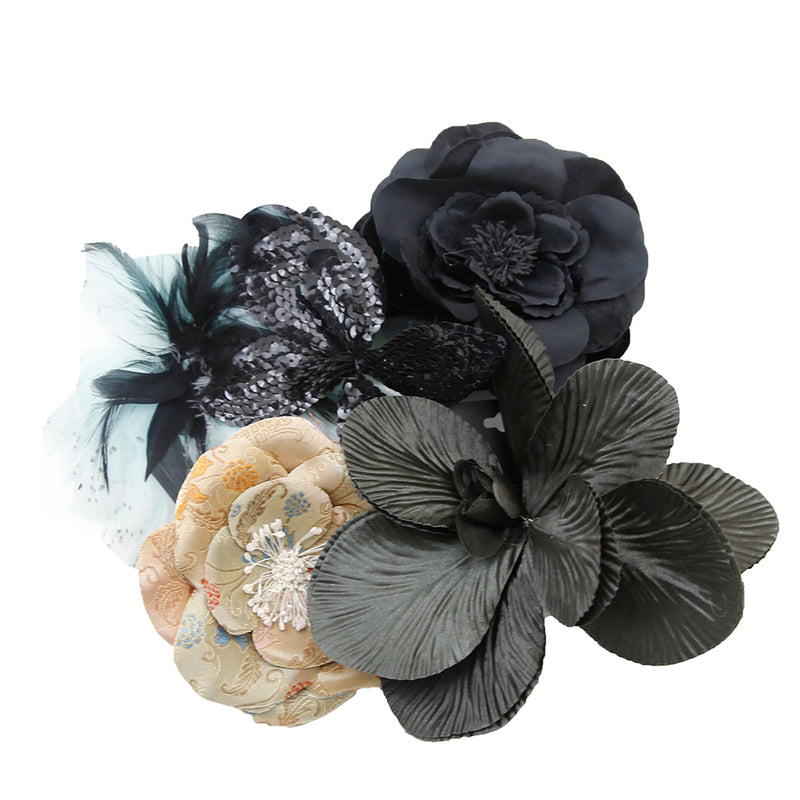 Variety of Accessory Flowers Pins and Hair Clips
