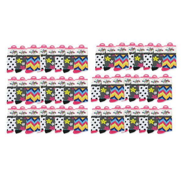 Sock Swap Assorted Youth Mix-n-Match Socks (Priced By Pc / Sold By 48 Pc) - Clear Poly Bag