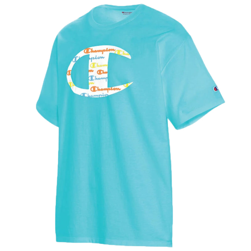 Men's Classic Graphic Tee - Large - Blue Horizon ( Light Blue )
