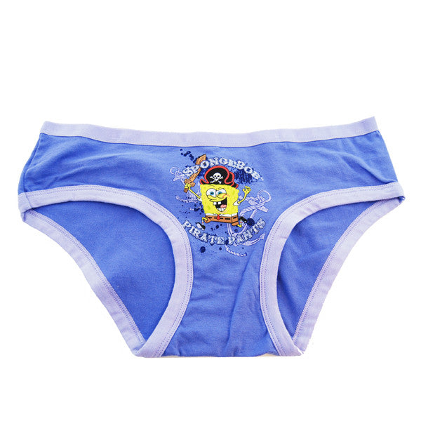 SpongeBob Pirate Pants Panties (Asst Sizes 12-9ct bags/cs)  - Each Bag Contains 3 x Small, 3 x Medium, 2 x Large, 1 x X-Large)