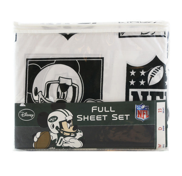 Disney New York Jets Disney Mickey Mouse Full Sheet Set