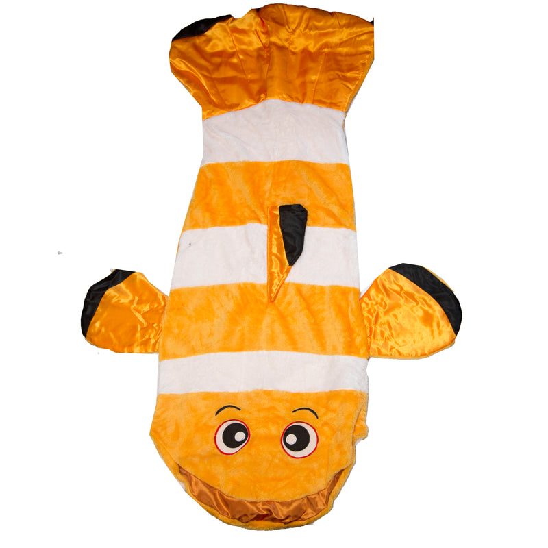 Snuggie Tails Velveteen Blkt Clown Fish - In Polly Bag