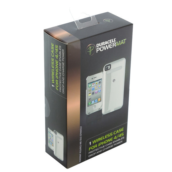 Duracell Powermat Wireless Battery Case for iPhone 4/4S - White