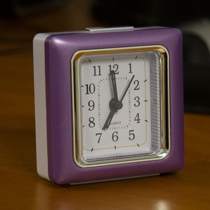 Quartz Alarm Clock - Dark Purple