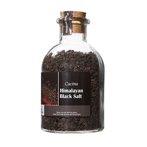 Cucina Himalayan Salt in Glass Jar with Cork Black Salt 22.1 oz Exp - 3/24/2020