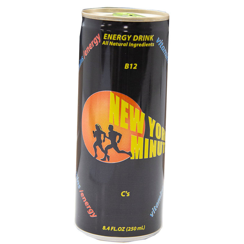 New York Minute Energy Drinks 8.4 oz - 24 ct Case  - sold by the case Exp Date 8-1-20