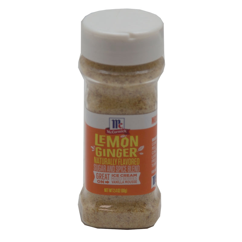 Mc Cormick Lemon Ginger Naturally Flavored Sugar And Spice Blend 24/2.5 oz - Exp. 08/21