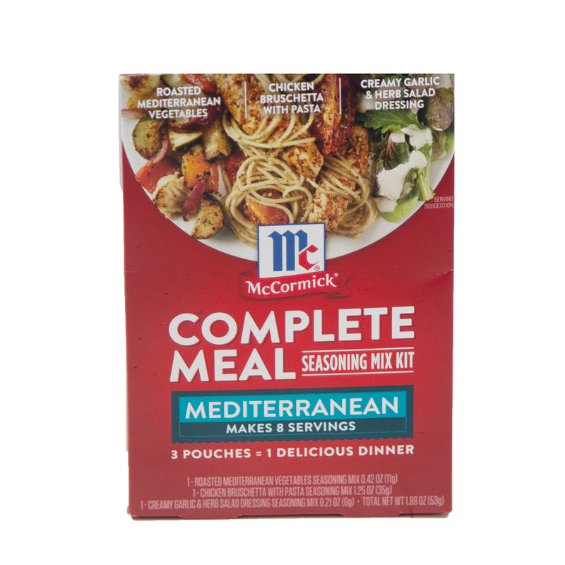 Mediterranean Dinner Complete Meal Seasoning Mix Kit 9/1.88 oz - Exp. 09/21