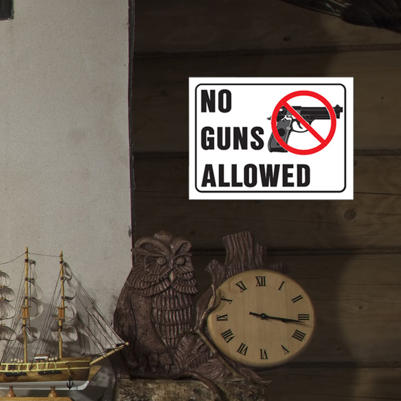 Hy-Ko - No Gun Allowed Sign, 8.5x12in.