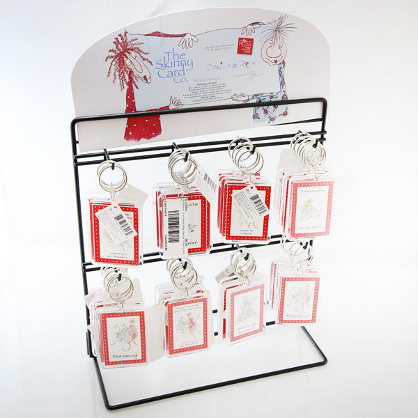 RUSS Berrie  72 pcs Display of Key Chains by The Skinny Card Co.