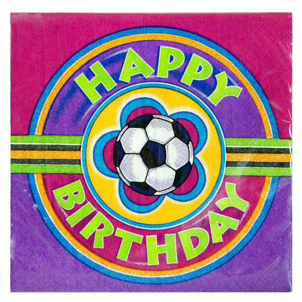 Luncheon Girls Soccer Birthday Napkins 13x13 Size