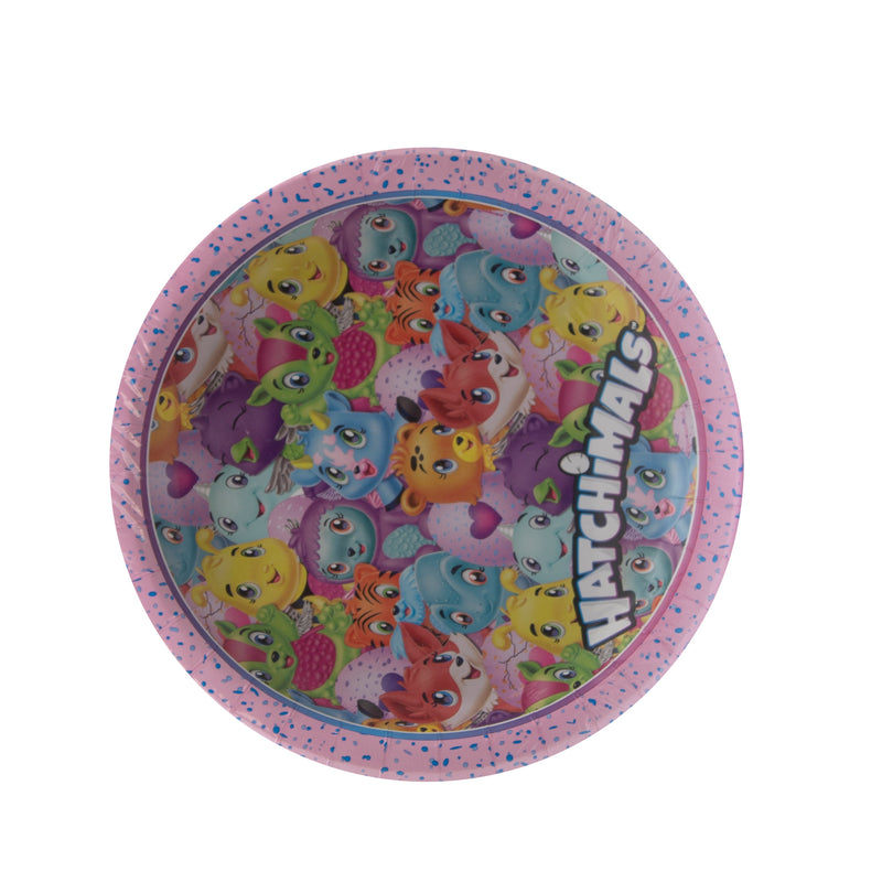 Hatchimals 8 ct Paper Plates