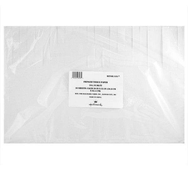 Hallmark White Tissue Paper 30 Sheets Each 20 in X 25 in