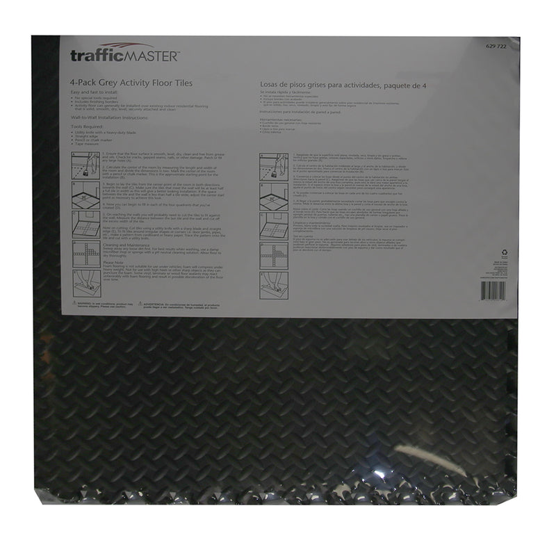 "Traffic Master Activity Floor Tiles Gray 24 "" X 24 "" - 4 pack"