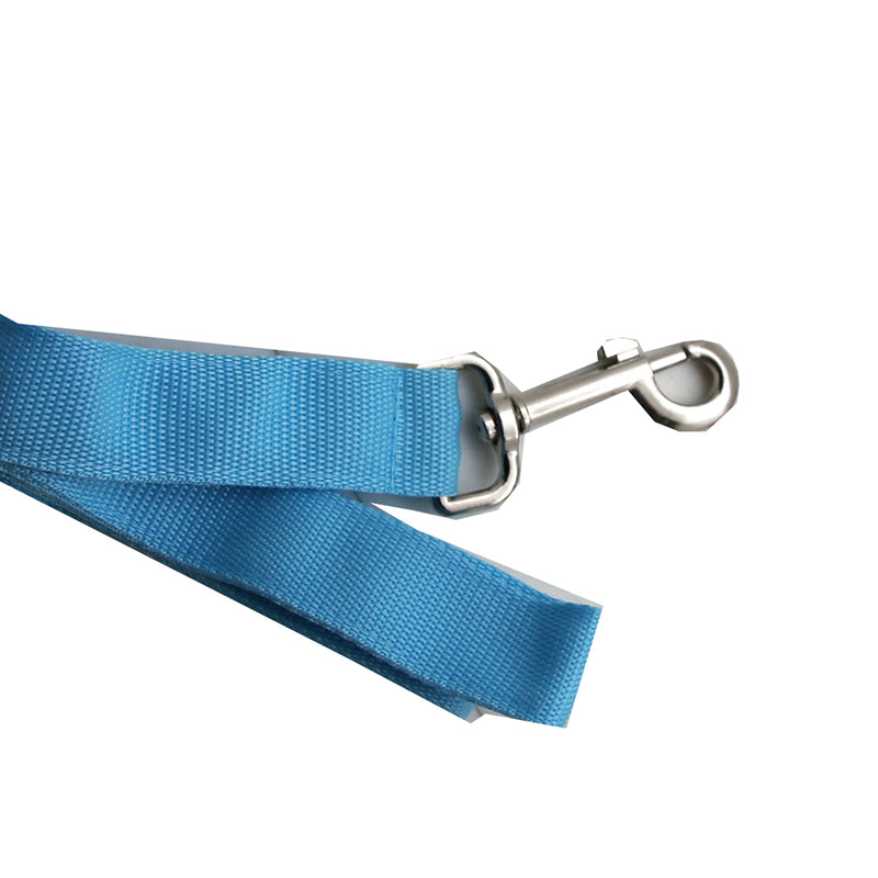 Simple Pet Led Dog Leash 4' Mixed Cases Light Blue and Bright Red