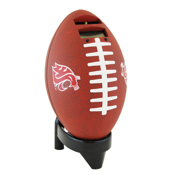 Football Coin Bank Washington State / Brown
