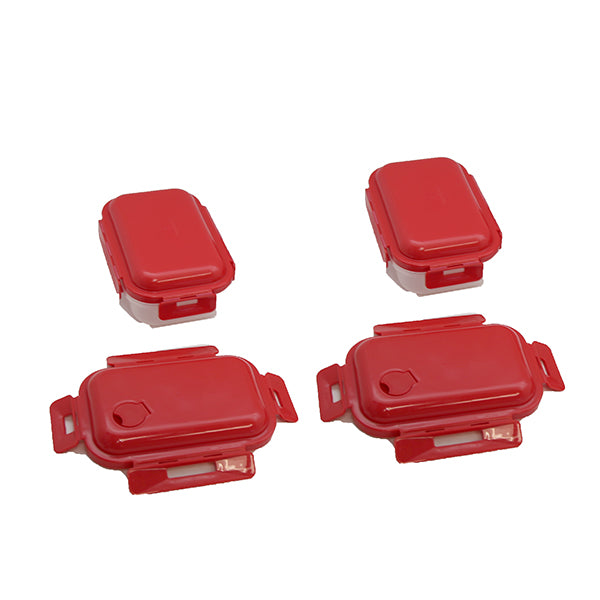 Loc-tastic Containers 2 Bottoms & 4 Lids - 2 Pk  RED- Mail Order
