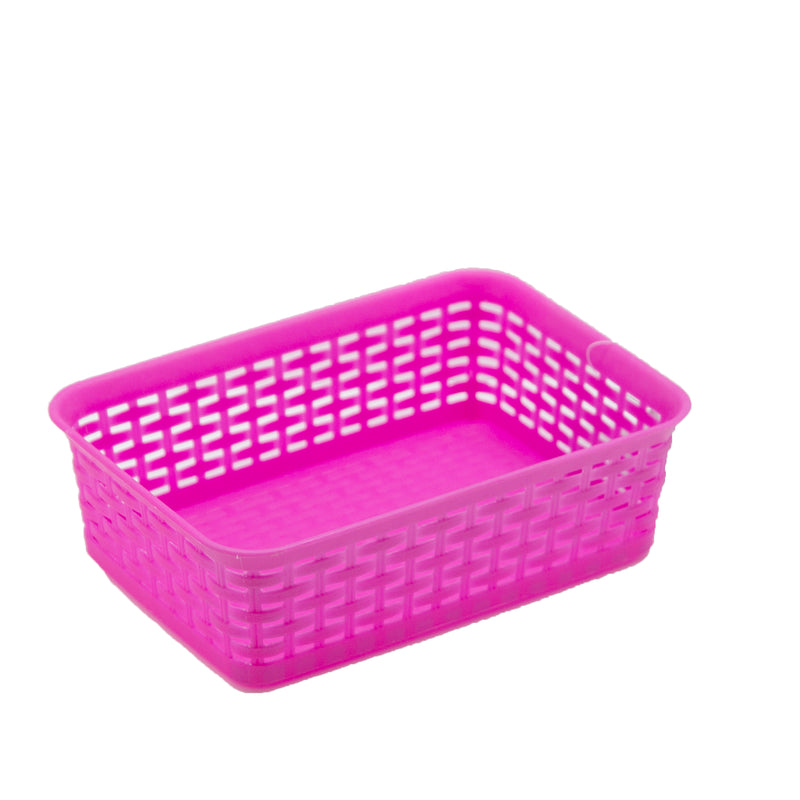 Small Storage Basket Plastic - Pink