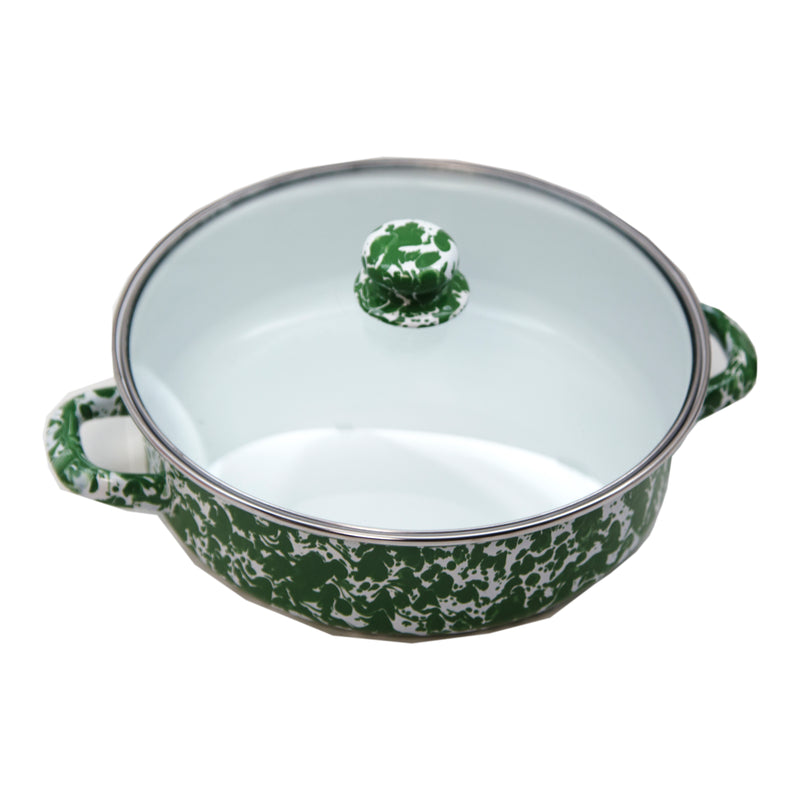 Green Swirl Small Saute Pan
