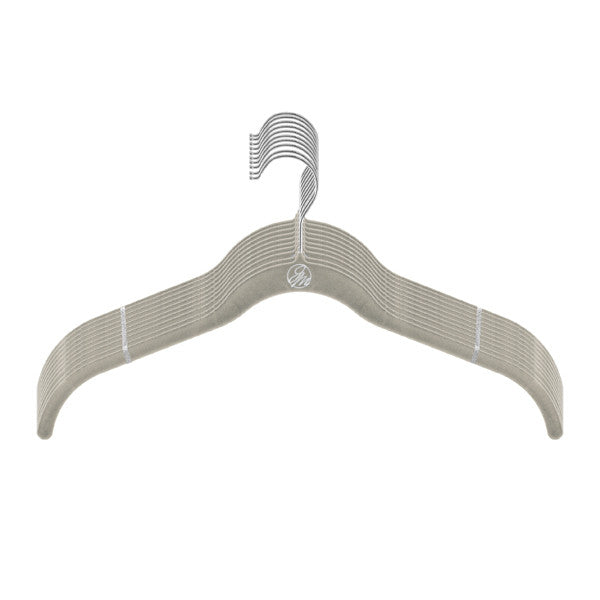 Hangers Joy Mangano Female -Shirt  - Silver -  Assorted  Shades Of Grey, 10 Pc. Count