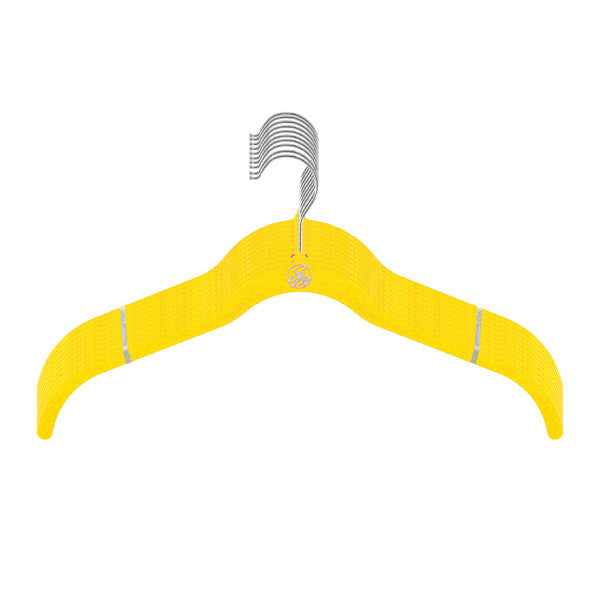 Hangers Joy Mangano Female -Shirt  - Silver -  Assorted  Shades Of Yellow, 10 Pc Count