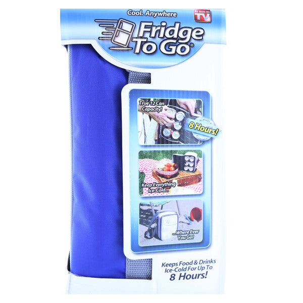 Fridge-To-Go FTG-3010 Mini Fridge Portable Cooling Tote, Blue