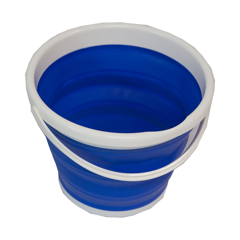 Collapsible Bucket Large - Blue/White