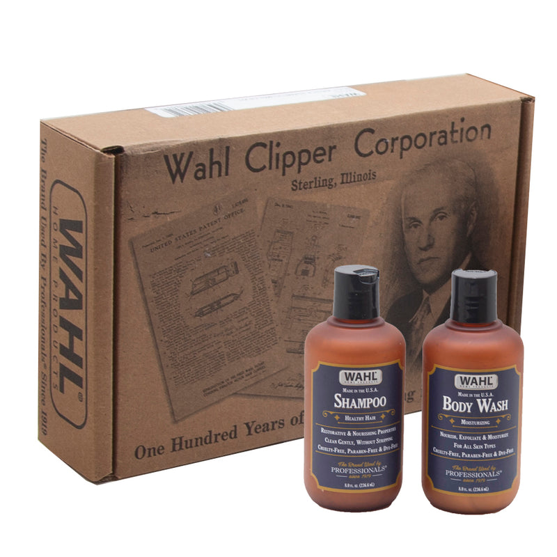 Wahl Body Wash 8 oz and Shampoo 8 oz Kit - Brown Box - comes 12 to a case