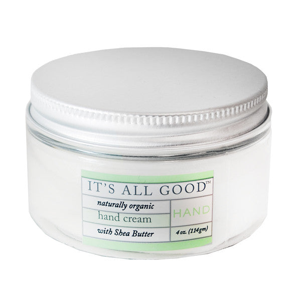 Its All Good: Hand Cream with Shea Butter, Naturally Organic, 4 oz