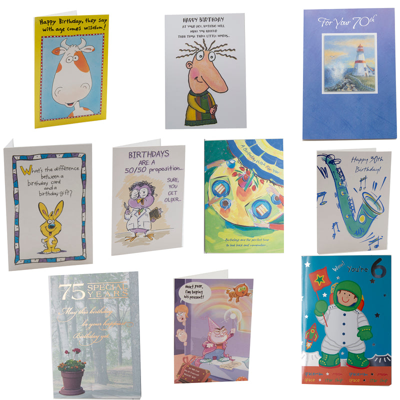 Asst Birthday Greeting Cards (Priced by Piece / Sold by Case)
