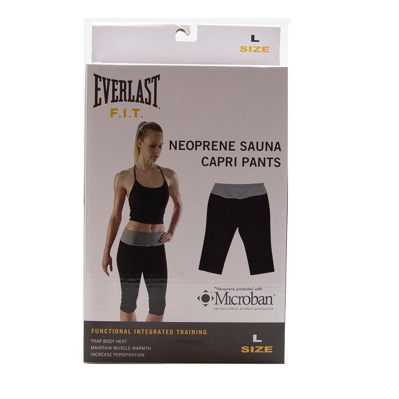 Everlast FIT Womens Neoprene Sauna Capri Pants Large