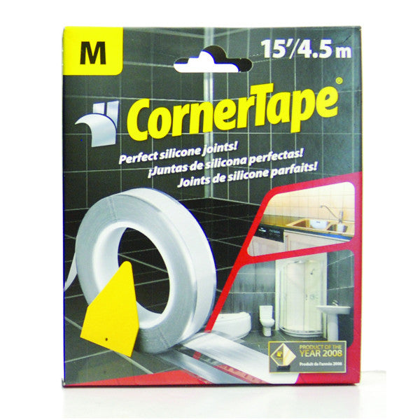 "Corner Tape - Caulking Tape Guide To Get Perfect Beads and Joints,15'Roll-M 1/4"" Bead"