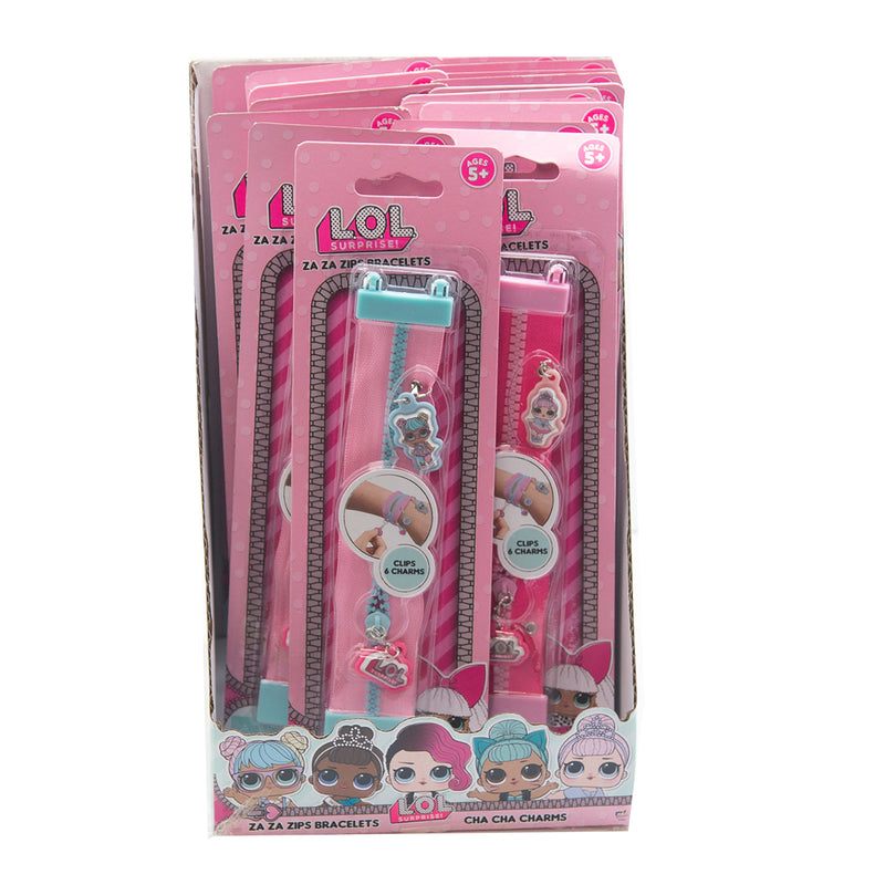 LOL Zaza Zips Bracelet / Cha Cha Charms - Comes in 24 pc PDQ