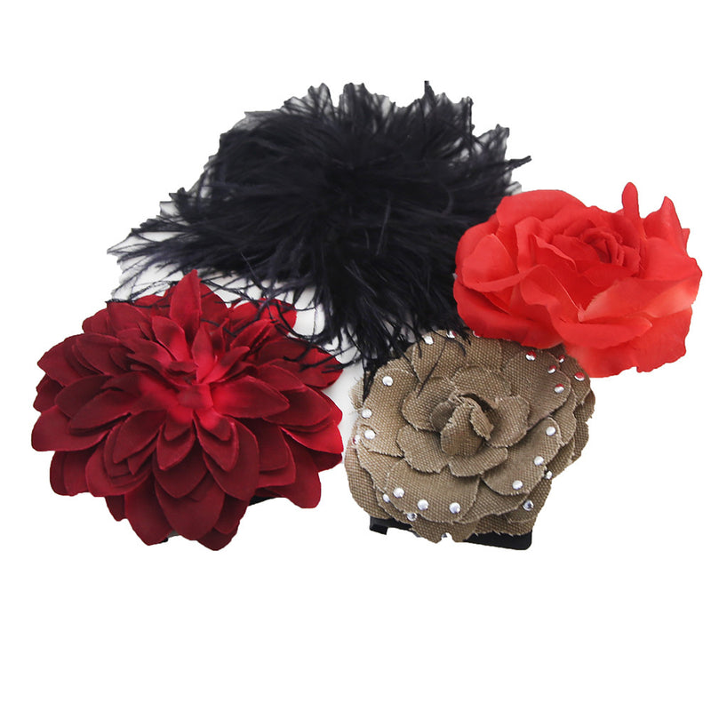 Collection Eighteen Flower Hair Items - Assorted - Price Tag Under $30