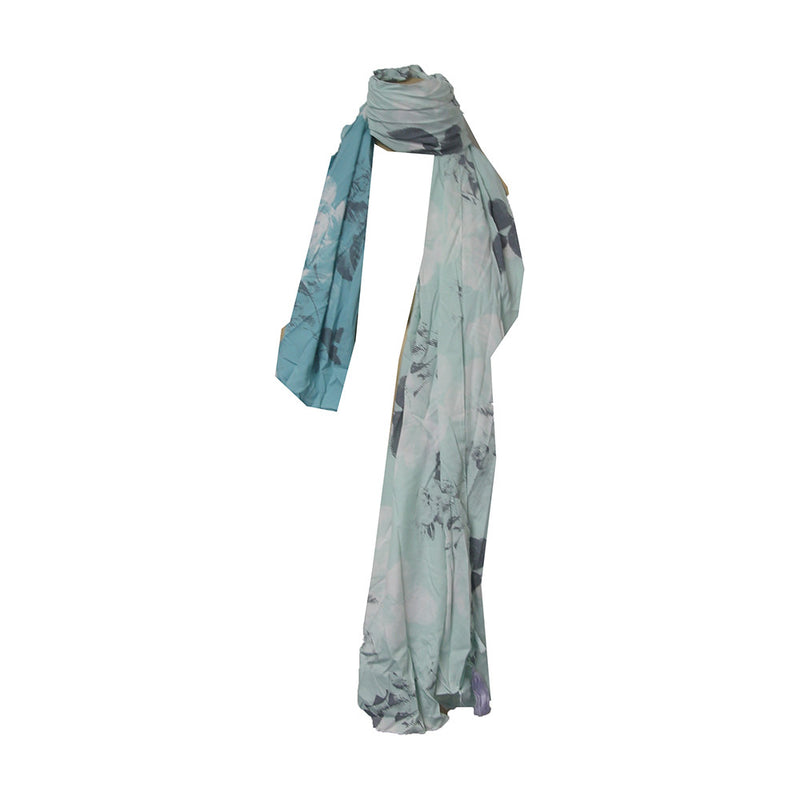 Anna & Ava Scarf Color Sage , Gray , White