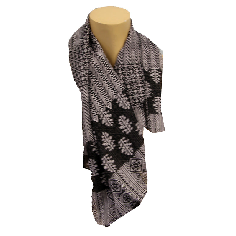 Black + White Scarf Light Weight