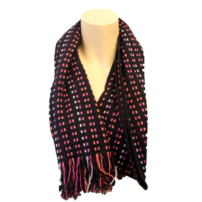 Muffler Dotted Lines Scarf Assorted Colors