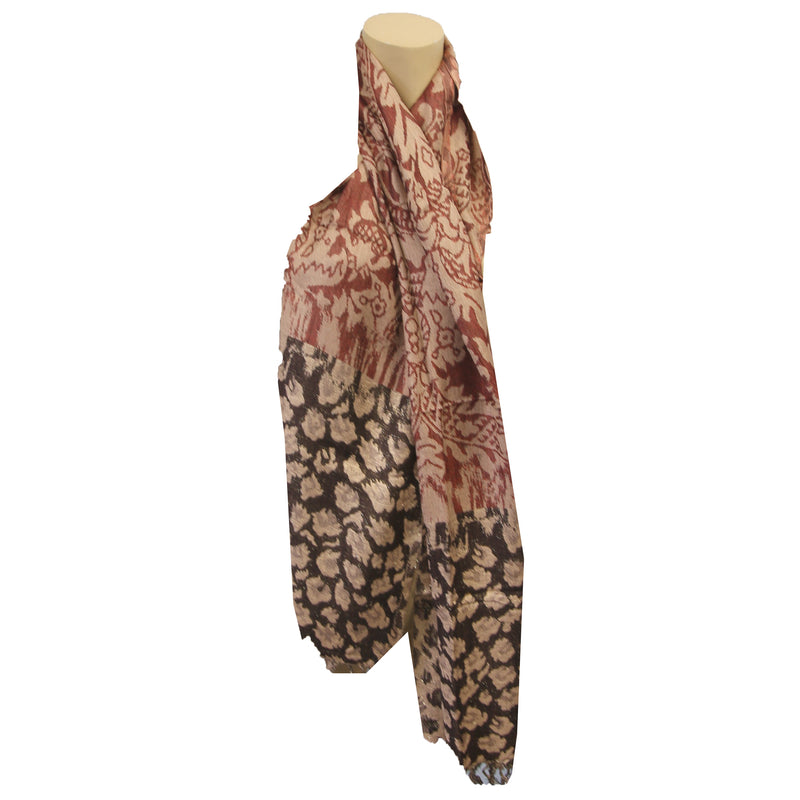 Scarf Animal Jaquard Oblong