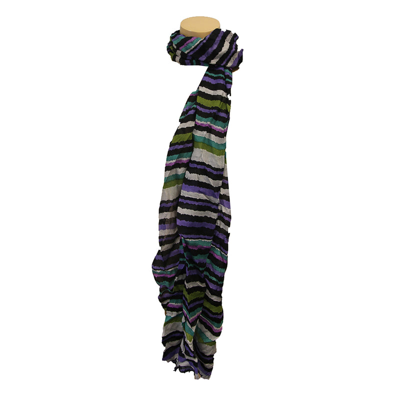 Scarf Shaky Stripes Oblong