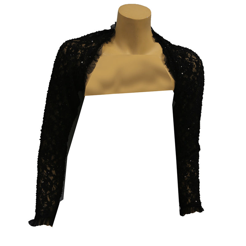 Betsey Style Sequin Lace Shoulder Shrug