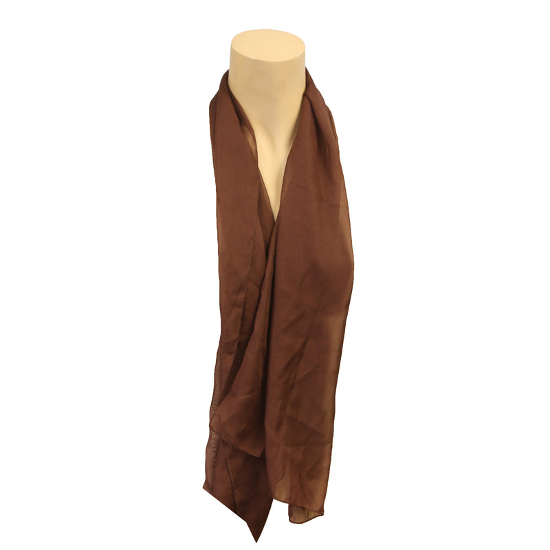 Scarf Solid Poly Chiffon Oblong - Assorted Colors