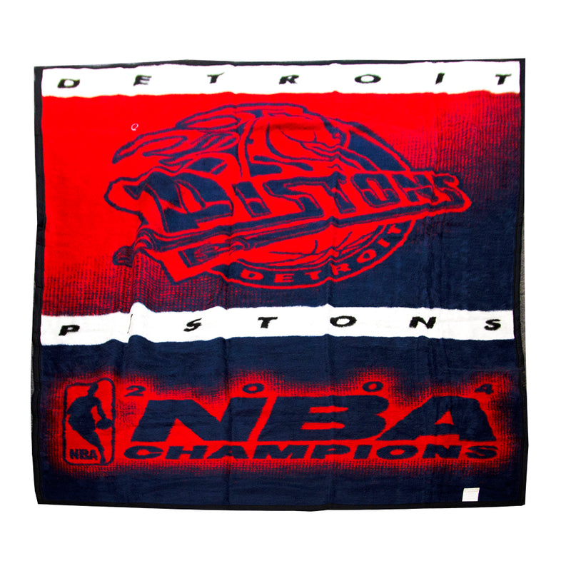 Sports Blanket NBA Pistons Champs 2004
