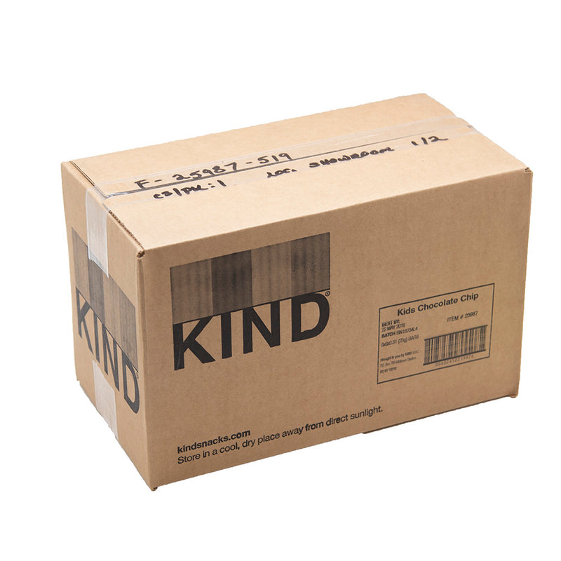 Kind Kids Chocolate Chip Bars Sold By The Case - 6 Bars Per Box 8 Boxes Per Case Best By 5/22/2019